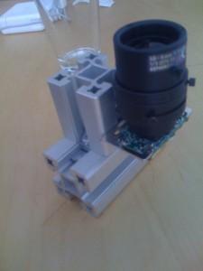 Pointgrey Firefly MV with Tamron zoom lens mounted with tripod bracket