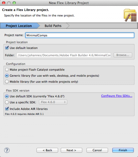 Create New Project from Git Source in Flash Builder « Actionscript