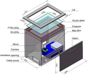 Read more about the multi-touch table the Virttable